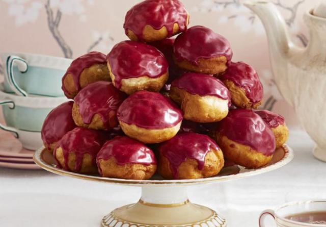 Rooibos-голубика глазированные пончики