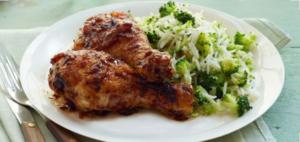 Курица тушенная с рисом
